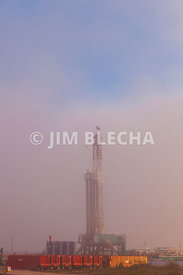 Drilling Rig in Fog