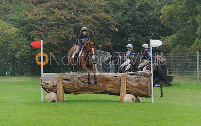 Polly Jackson and PAPILLON - cross country phase,  Land Rover Burghley Horse Trials, 6th September 2014.