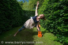 24th June, 2012.Feature: Ukelele teacher Ronana Daly who is teaching yoga teacher Louise Rosingrave how to play the ukelele, ...