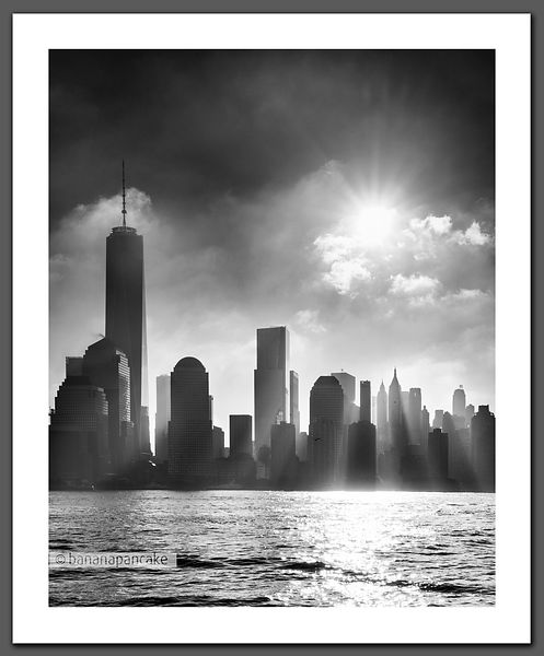 Manhattan Mist, New York - Black and White Print (BP4474)