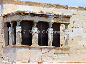 Temple of Erechtheion in Athens - Greece