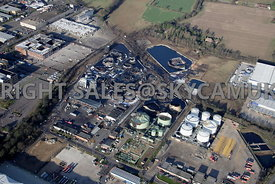 Buncefield Oil Depot Hemel Hempsted Hertfordshire fire and blast damaged Offices caused by the fire that devastated the fuel ...