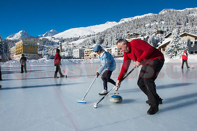 Stock Curling Engadin
