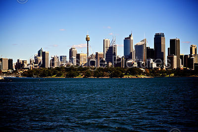 View across the Water to The Sydney Skyline