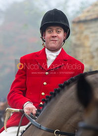 Tom Kingston at the meet - The Cottesmore Hunt at the Blue Ball 11/12