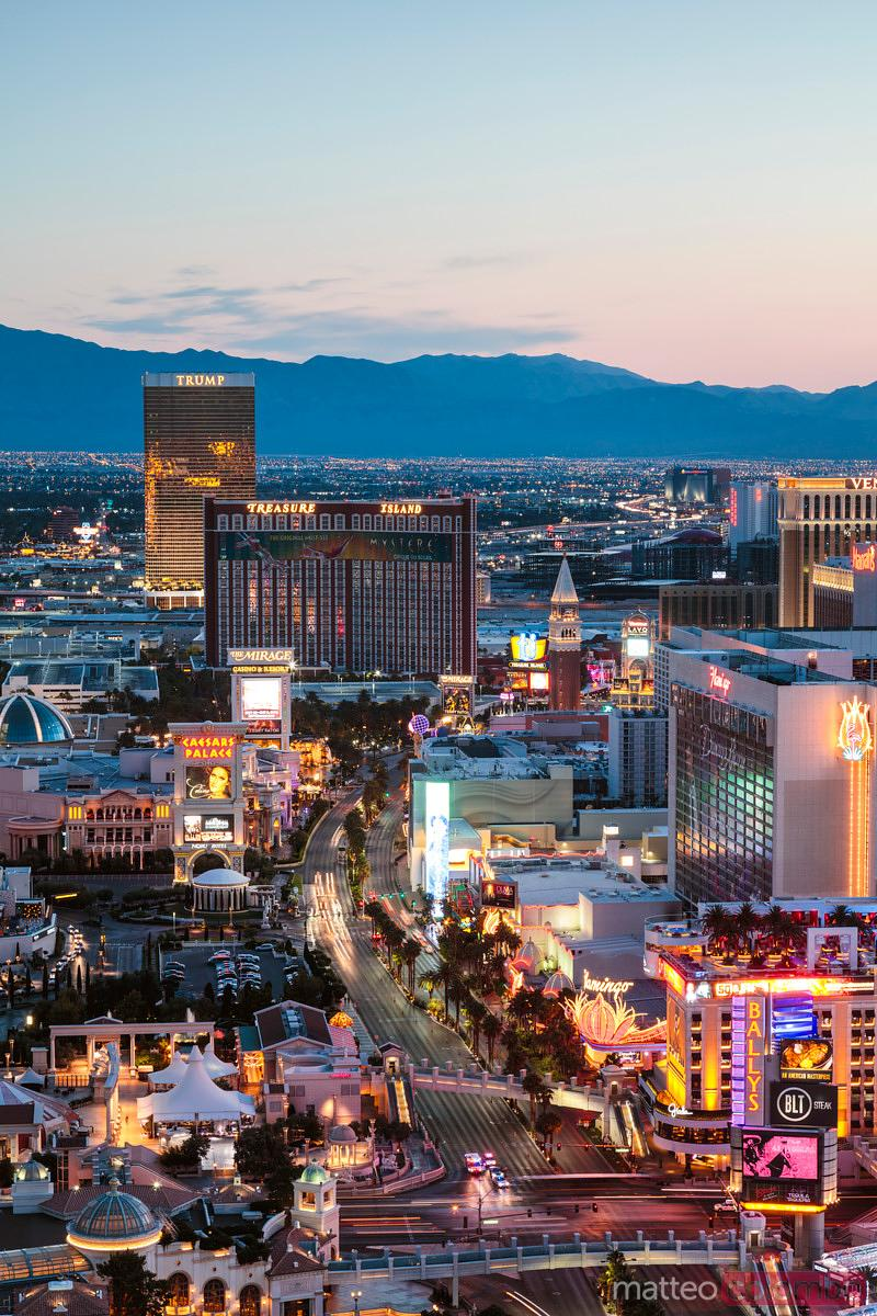 Dawn over the Strip, Las Vegas, Nevada, USA