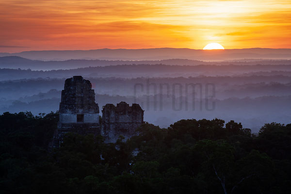 Elevated View of Sunrise from Temple 4