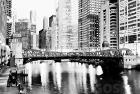 Chicago Downtown at Clark Street Bridge