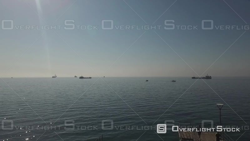 Pier On the Mediterranean Limassol Molos Drone Video Cyprus