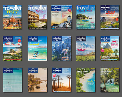 A selection of my cover images for Lonely Planet magazine