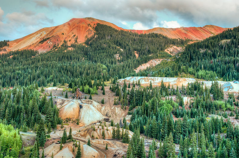 Red Mountain Pass, Million Dollar Highway.  Near Ouray, Colorado