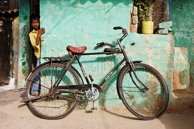 Bicyle and Boy in Shanty Town