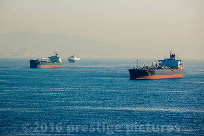 Oil Tankers Jo Pinari and Emmanuel Tomasos off the Coast of Spain
