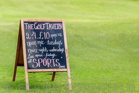 Golf Tavern advertising board