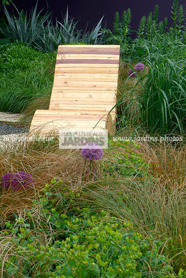 Chair, Contemporary garden, Garden furniture, Natural garden, Resting area, Wild garden, Digital, Grasses, Summer