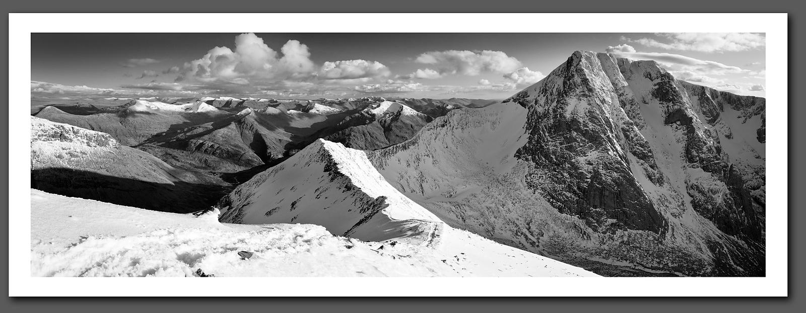 Ben Nevis North Face from the Carn Mor Dearg  Black and White Print (BP3160)