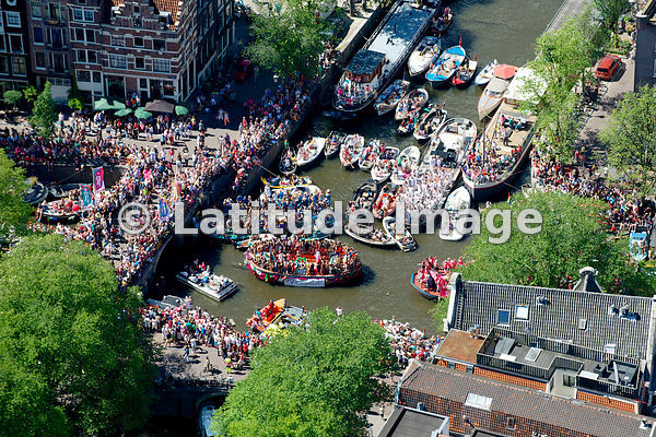 HollandLuchtfoto: It's a Pride Party in Amsterdam!