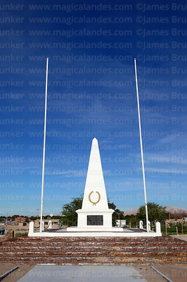 Monument near site of Battle of Topater, Calama, Region II, Chile