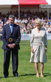Lance Bradley of Mitsubishi Motors and The Duchess of Cornwall - show jumping phase,  Mitsubishi Motors Badminton Horse Trials, 6th May 2013.