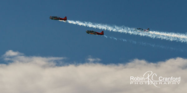 Art Deco Sunday 2014. Air show.  New Zealand Warbirds Aerobatic Team.