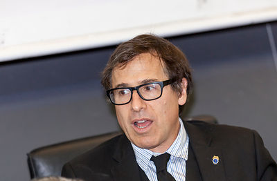 "David O. Russell gives a talk to students at ""La Sapienza"" University of Rome, Rome, Italy."
