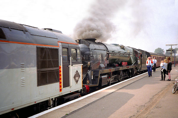 Steam loco WC 34027  Ashford