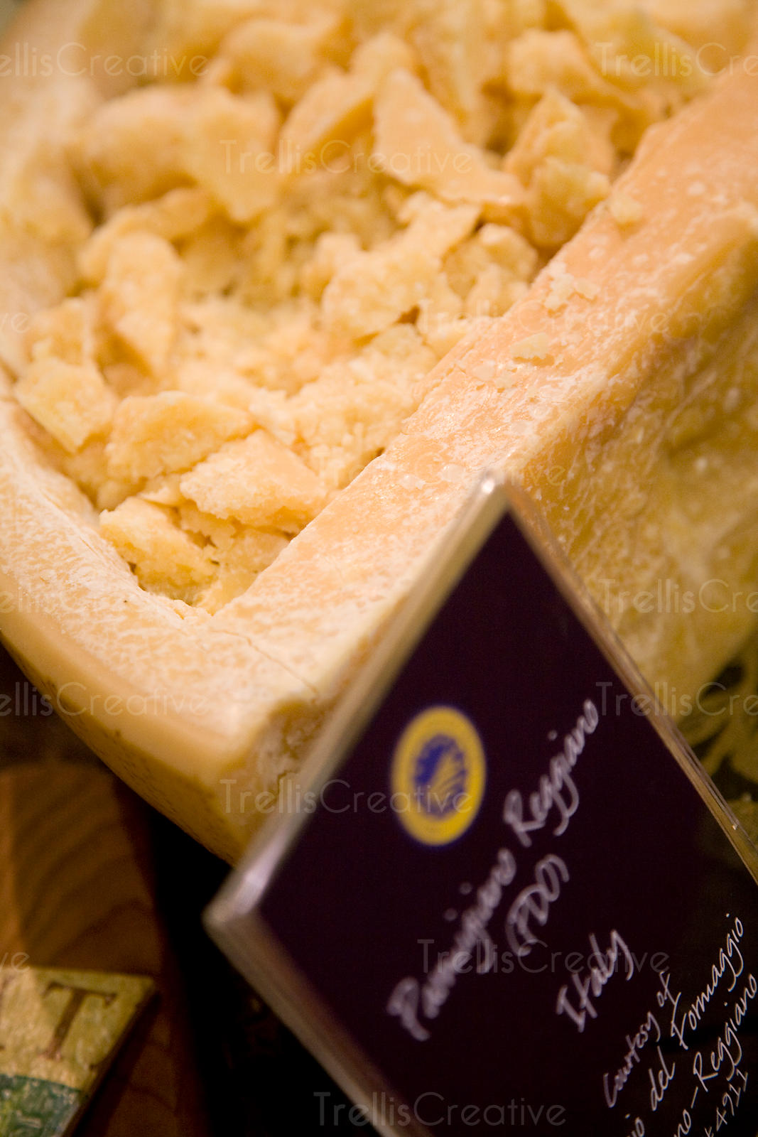 Samples of parmigiano reggiano cheese