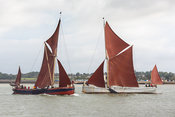 Thames sailing barges Repertor and Reminder