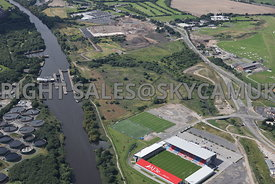Port of Salford aerial photograph of the development of the UK first Trimodal inland port facility and distribution park adja...
