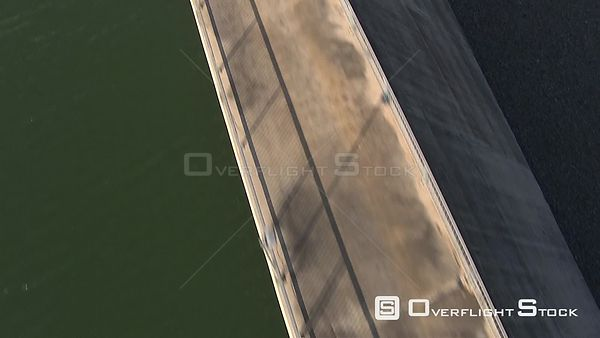 Aerial shot over a dam wall Nelspruit Mpumalanga South Africa
