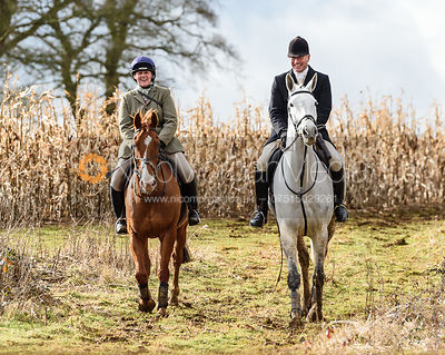 Hannah W, David Applewhite at Croxton Park. The Belvoir Hunt at Eaton Grange 7/2