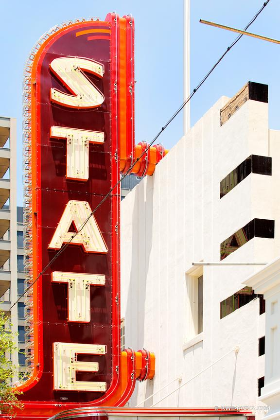 STATE THEATRE SIGN AUSTIN TEXAS