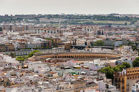 Seville city centre with bullring
