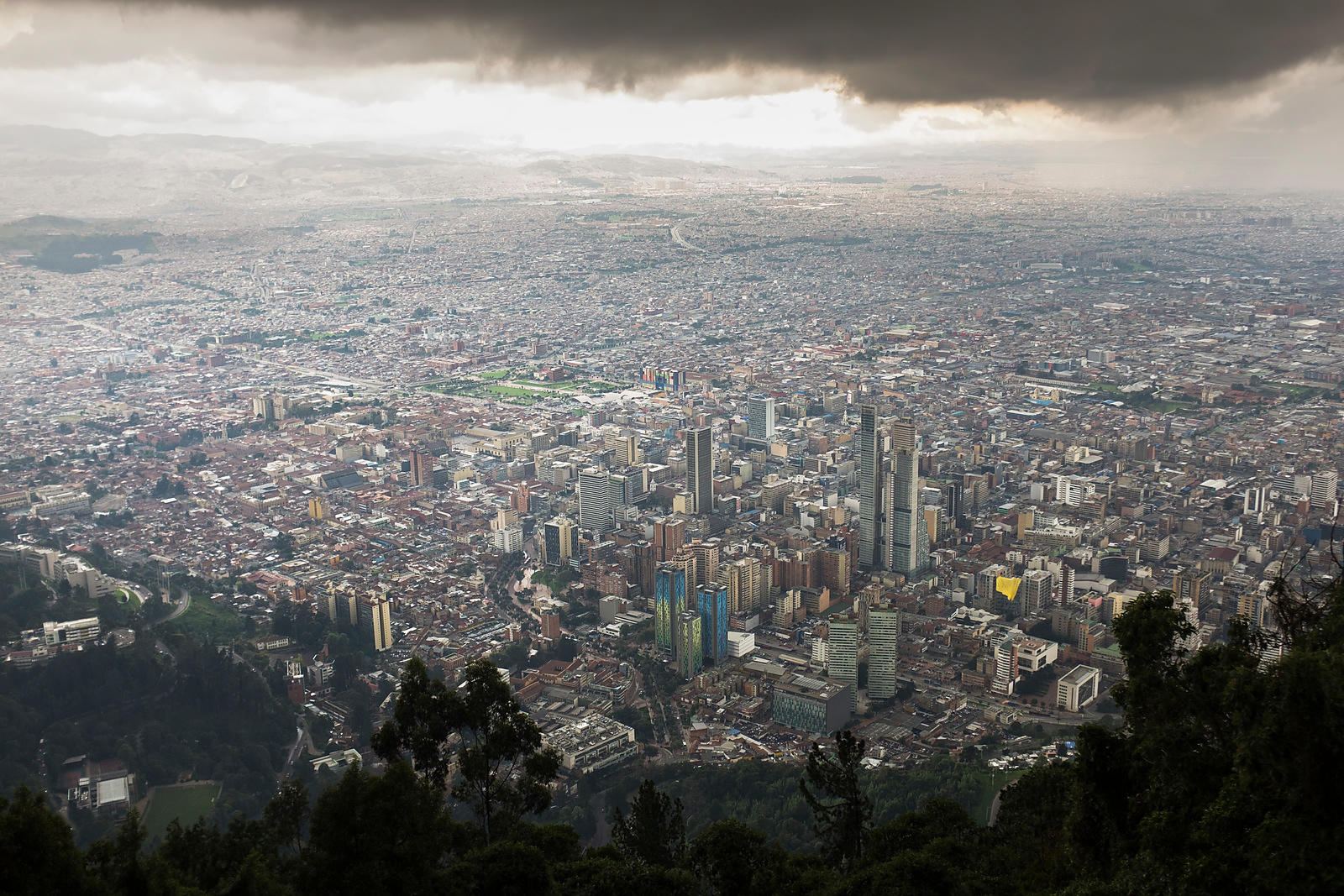Bogota, metropolis of world importance, third largest agglomeration of South America, Colombia