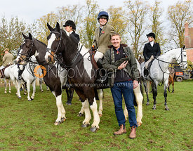 Alice Graham, Rob Herrick at the meet. The Cottesmore Hunt at Braunston