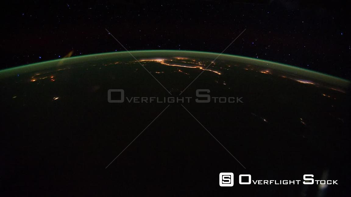 Time-Lapse from ISS over  Africa Middle East Exp29 01 Oct 2011