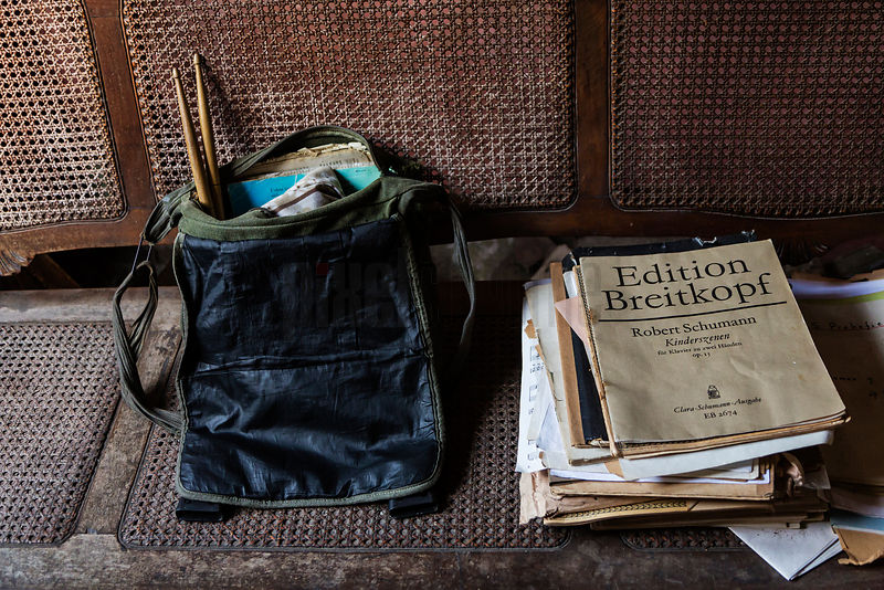 Musical Scores and Student's Satchel