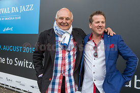 Rolf Sachs and Christian Jenny (Festival da Jazz) at the opening day of the festival da jazz 2015
