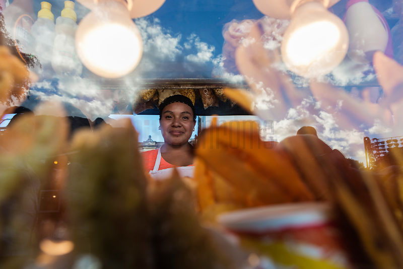 Portrait of a Food Vendor at Church of San Francisco