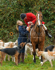 Quorn Huntsman Peter Collins and the Quorn hounds