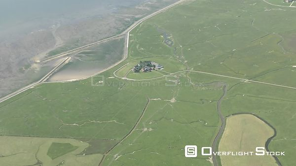 Coastal area of ​​the North Sea - Langeness Island in the state of Schleswig-Holstein