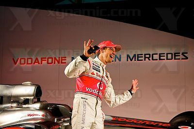 Jenson Button (GBR), McLaren MP4-25 Launch, Newbury, GB, Vodafone, Mercedes