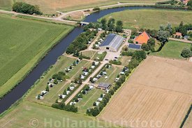Roodhuis - Luchtfoto Camping De Finne