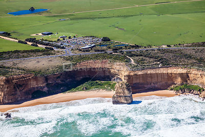 Twelve Apostles Heli Pad tourist attraction. Australia