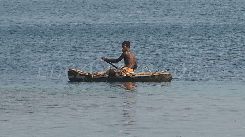 Traditional canoe Epi island