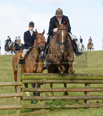 Nick Wright jumping a hunt jump at Burrough House - The Cottesmore at Somerby 5/11