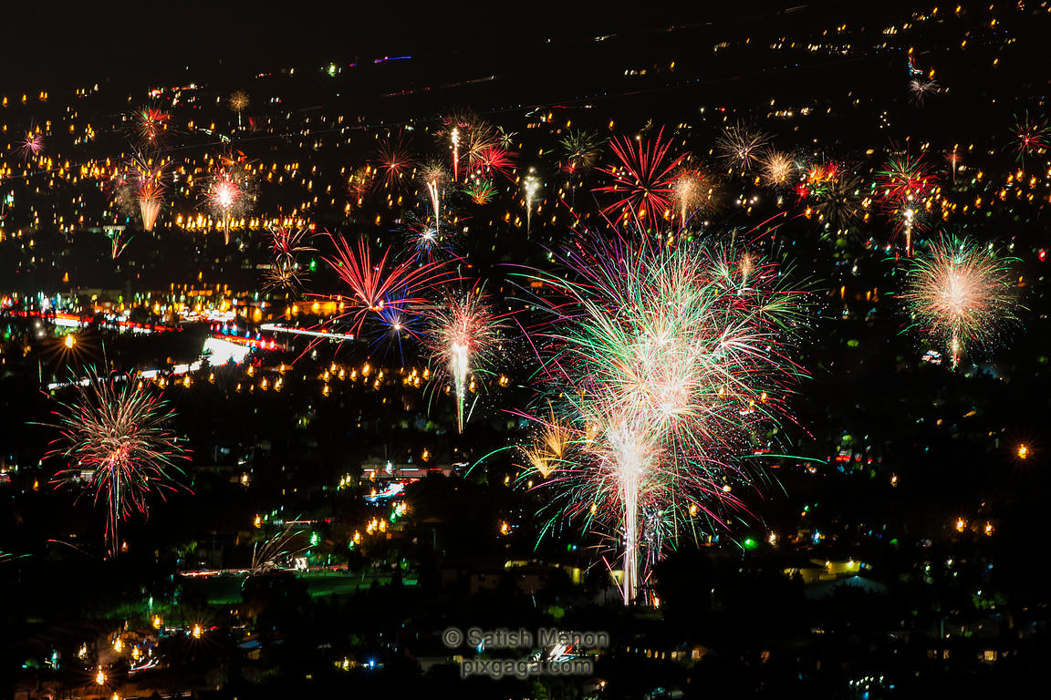 July 4th Fireworks, San Jose, CA, USA