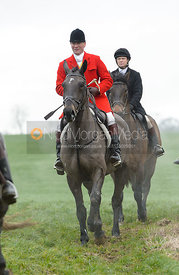 Major Tim Brown at Knossington Spinney - The Fitzwilliam Hunt visit the Cottesmore at Burrough House