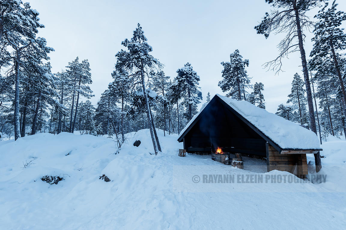 Hut in Finnish Lapland