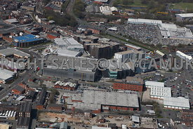 Bury aerial photograph The Rock shopping centre
